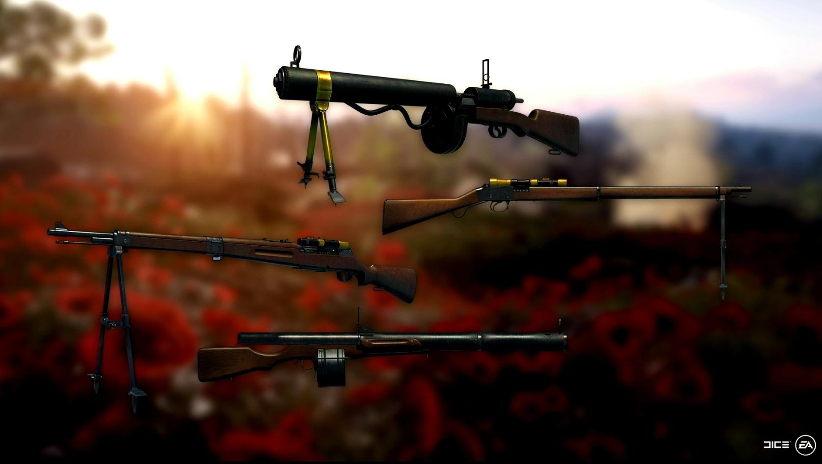 4 neue Waffenvarianten...