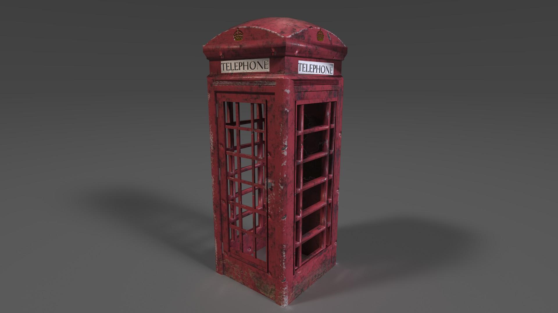 Typische Telefonzelle