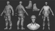 britische Soldaten-Models